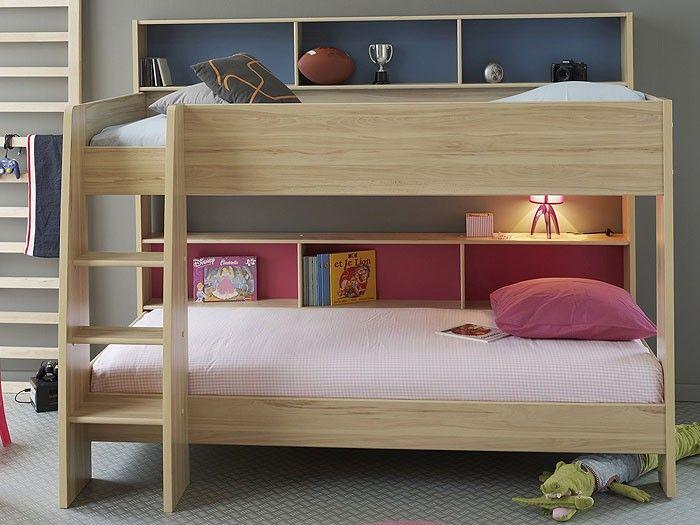 Etagenbett Hochbett 209x165x132cm Kernbuche Doppelstockbett Bett