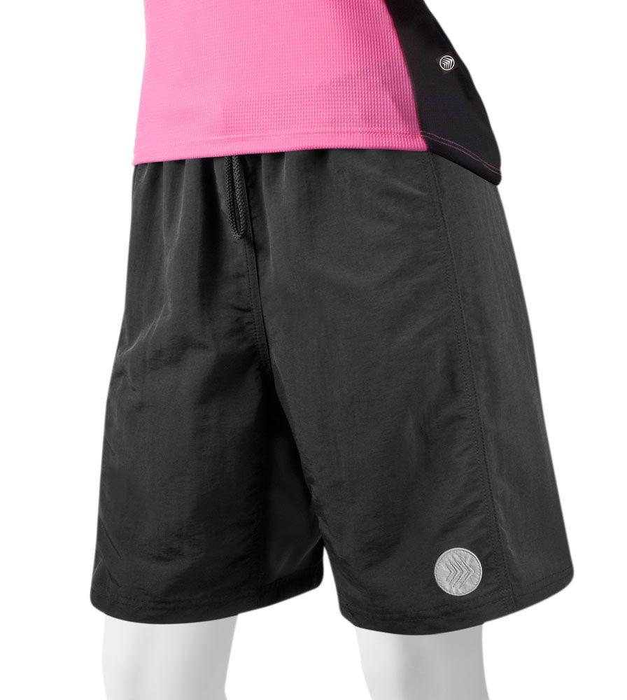 Aero Tech Women's Baggy PADDED Mountain Bike Shorts Loose ...