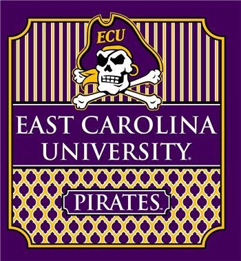 8fdf995bfb5 Southern Couture University of East Carolina ECU Pirates Classic Preppy  Girlie Bright T Shirt