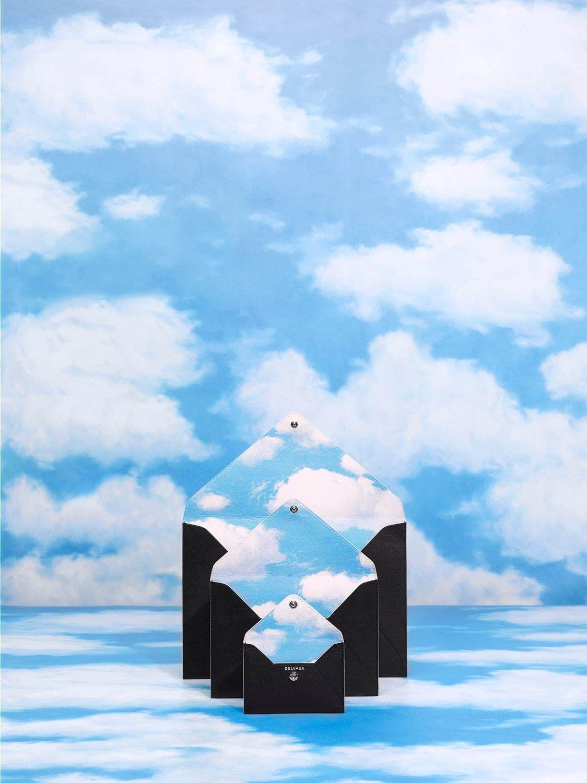 デルヴォー マグリットコレクション ルネ マグリットの作品をイメージした だまし絵 ポーチ だまし絵 マグリット ルネ マグリット