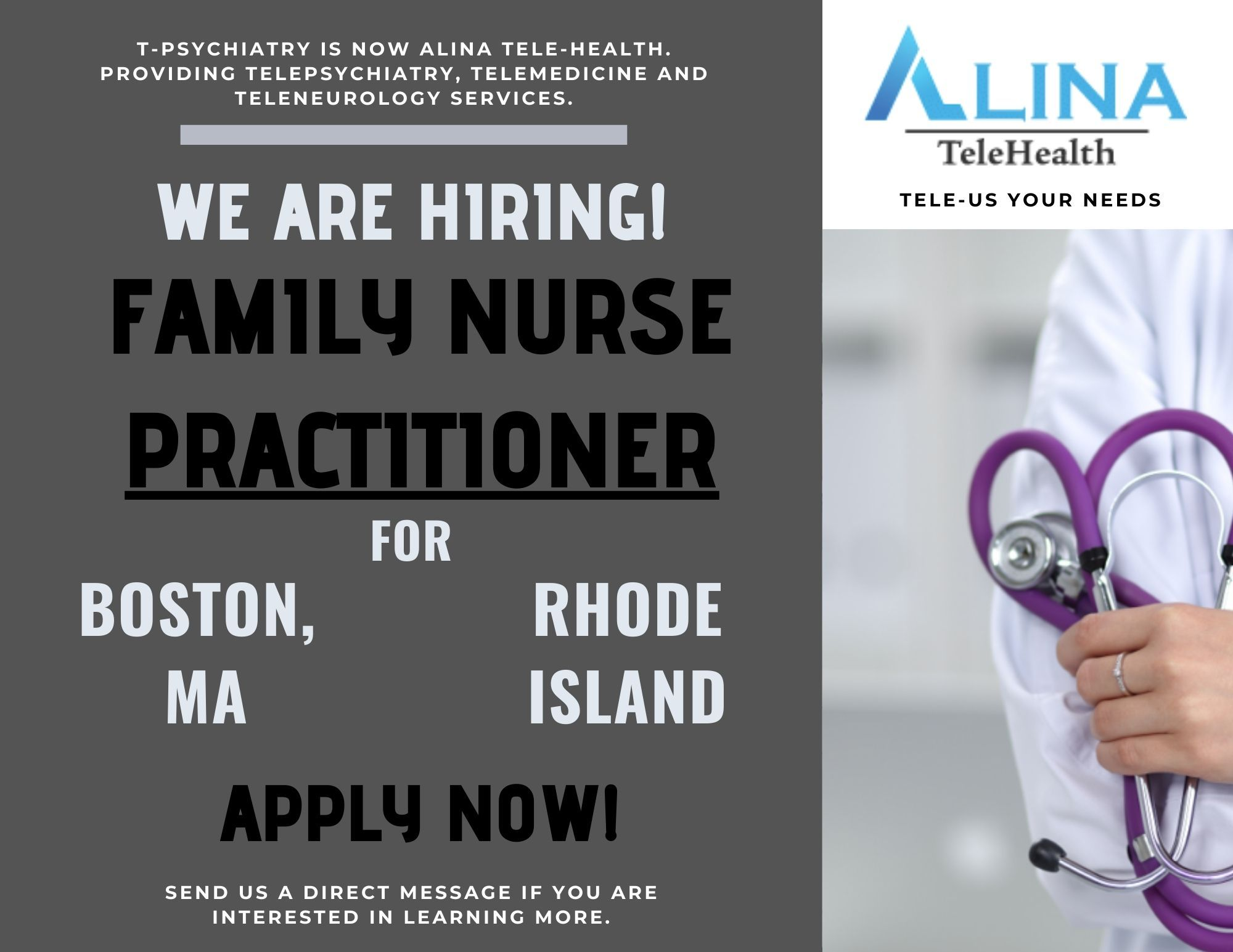 Looking for a family nurse practitioner in boston ma and