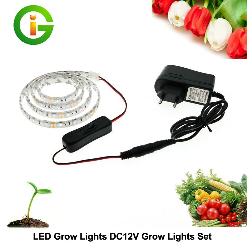 Led wachsen lichter dc12v wachsen led streifen pflanzenwachstum ...