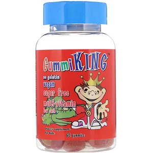 Gummiking Multi Vitamin For Kids Sugar Free 60 Gummies 젤라틴 비타민 젤리