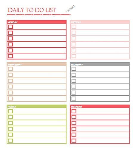 Free Printable Daily To Do List  Love To Check Things Off