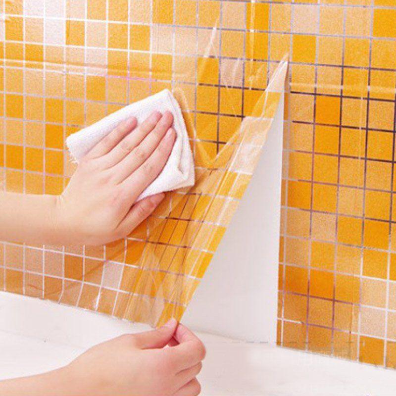 Vodonepronicaemyj Mozaika Alyuminievoj Folgi Self Adhensive Anti Nefti Kuhnya Oboi Termostojkost Wall Sticker Self Adhesive Backsplash Self Adhesive Wallpaper