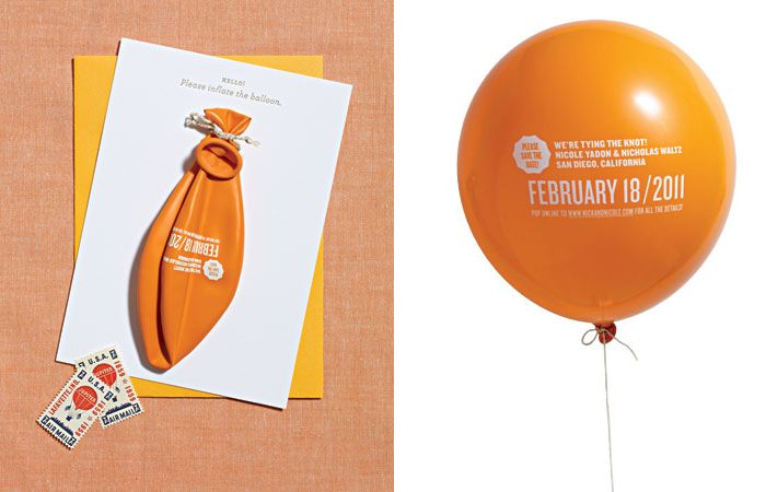 save the date with a balloon! invitation suites Pinterest - sample wedding guest list