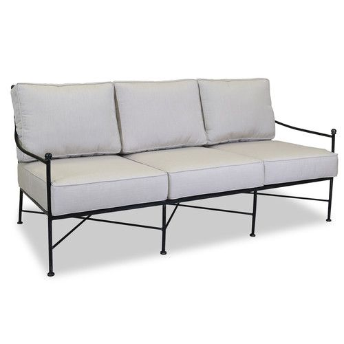 Provence Patio Sofa with Sunbrella Cushions #resinpatiofurniture