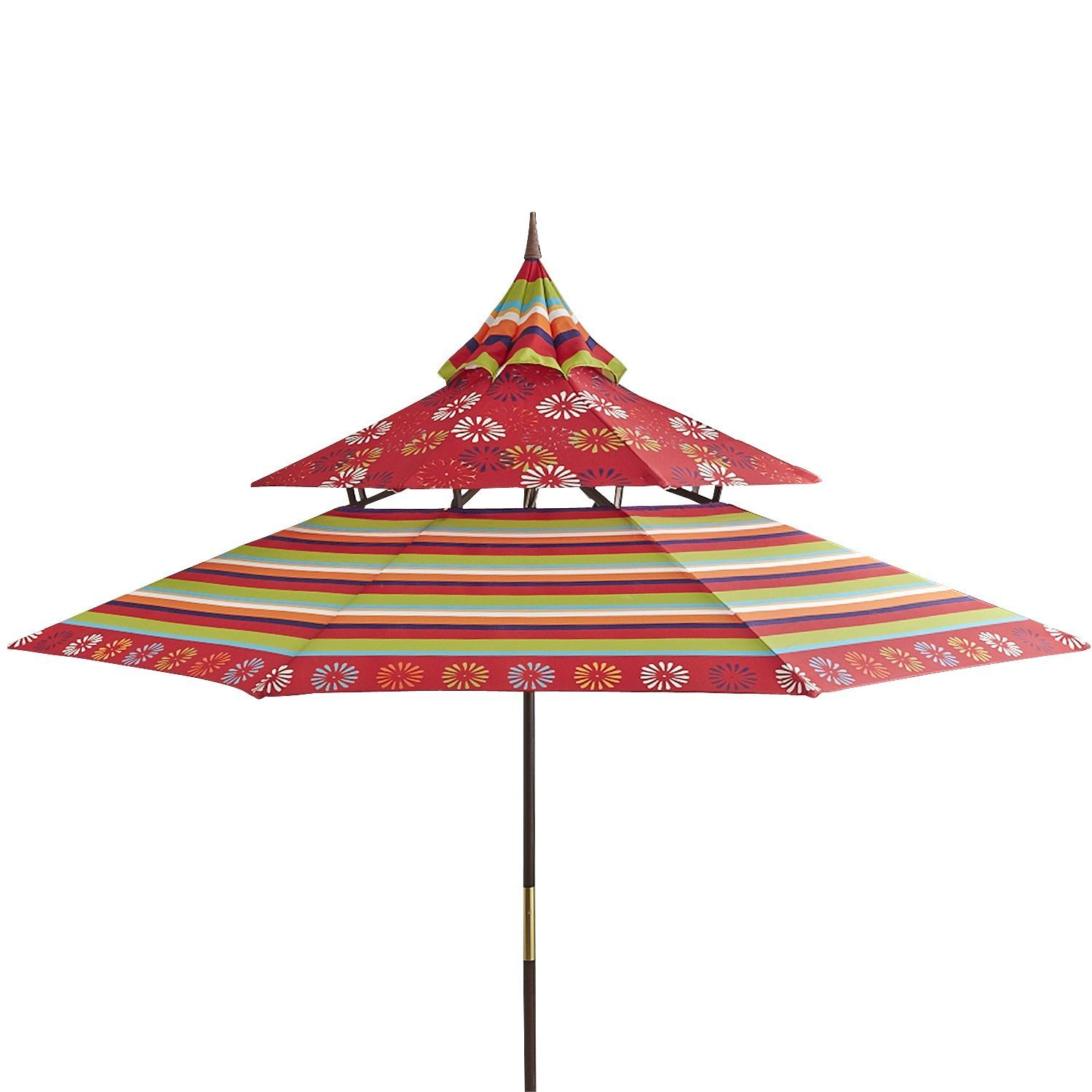 Pagoda Umbrella   Red Scatter Daisy | Pier 1 Imports