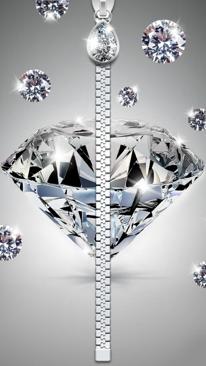 Diamond Zipper Wallpaper Diamond Wallpaper Bling Wallpaper Screen Savers Wallpapers