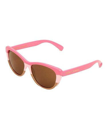 972f100dfec Look what I found on  zulily! Pink Cat-Eye Sunglasses  zulilyfinds ...