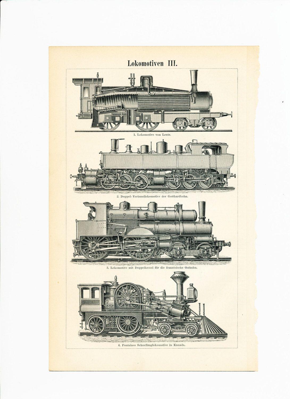 Locomotive Print Steam Engines Print Lentz Locomotive Trains
