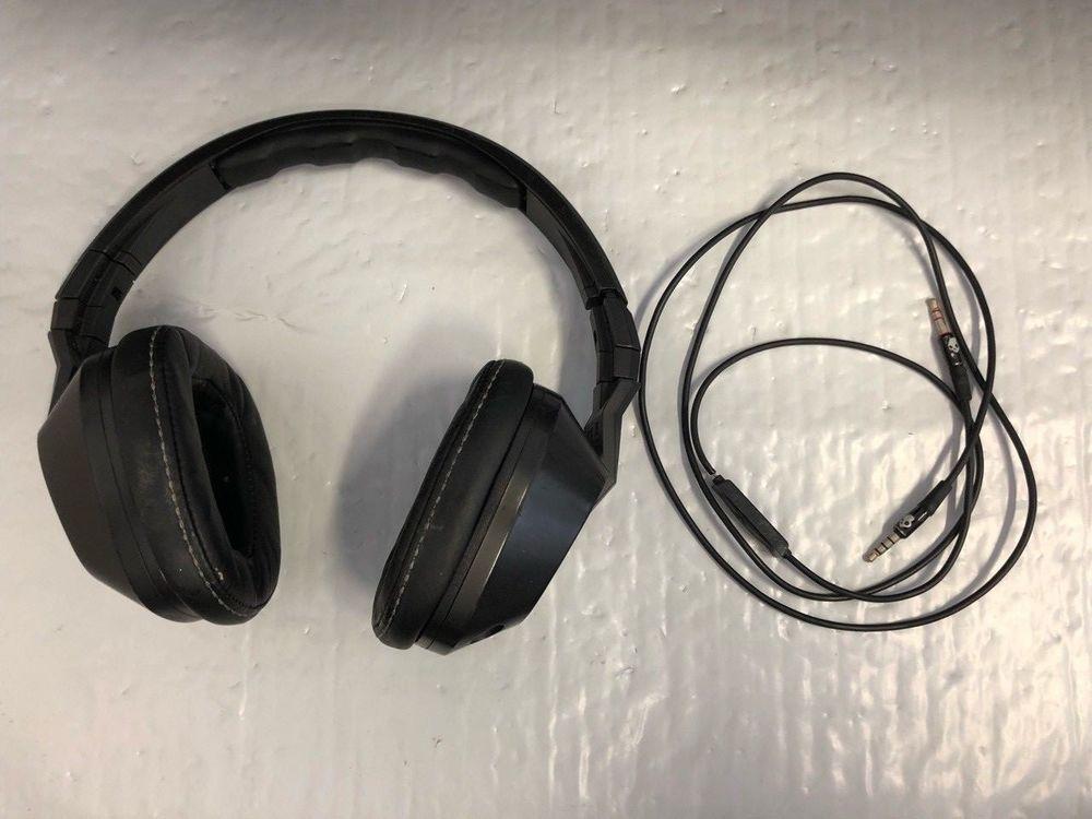 Skullcandy Crusher Wired | Skullcandy Crusher Stereo Headset Supreme Sound With Amp Bass Black