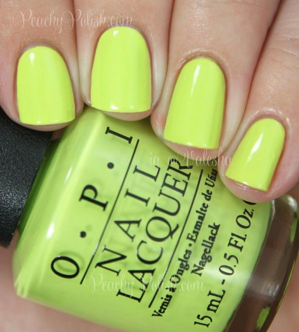 OPI Life Gave Me Lemons | Summer 2014 Neon Collection | Peachy ...