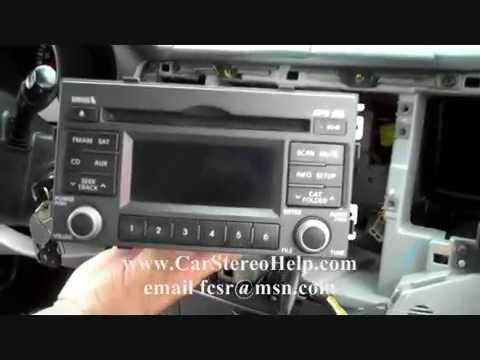 How to Kia Optima car Stereo Removal 2006 - 2010 replace repair 6 cd