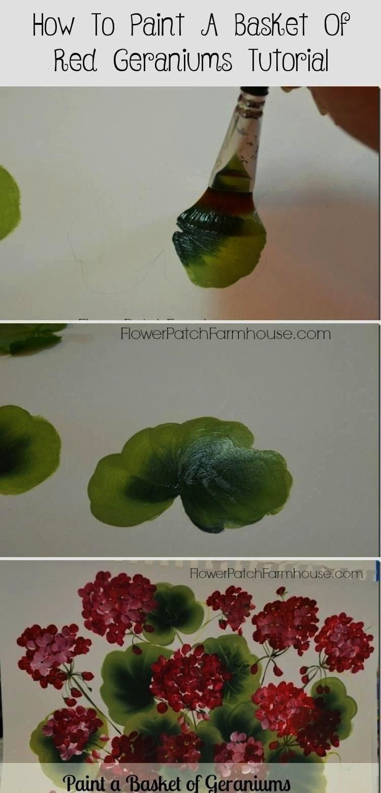 Paint Geraniums FlowerPatchFarmho How to Paint Geraniums FlowerPatchFarmho Leah Perry leahperry0168 Beginner Paintings How to Paint Geraniums FlowerPatchFarmho LeahHow to...