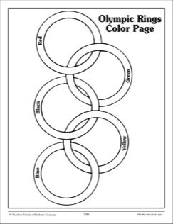 Olympic Rings Coloring Page Preschool Olympics
