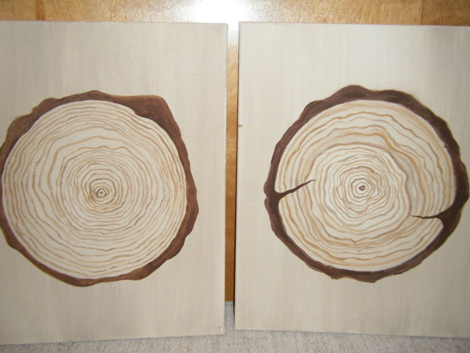 Tree Ring Art Painting Wedding Guest Book Idea by susanssewingstudio on Etsy