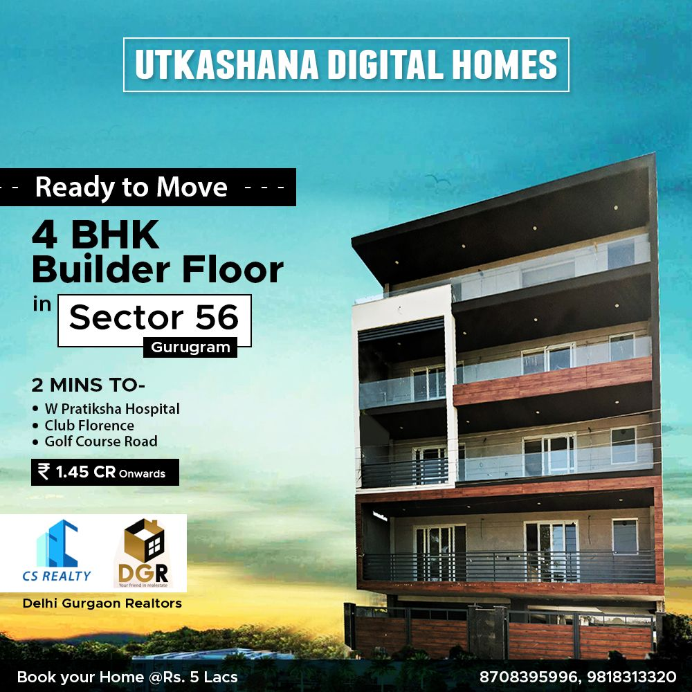 Readytomove 4 Bhk Builder Floor In Sector 56 Gurugram Gurgaon Buying Property Construction Management