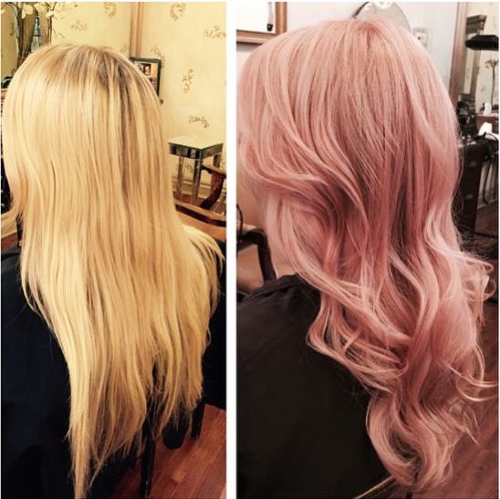 From A Summer Blonde To A Warm Rose Gold Color By Dianna Simone