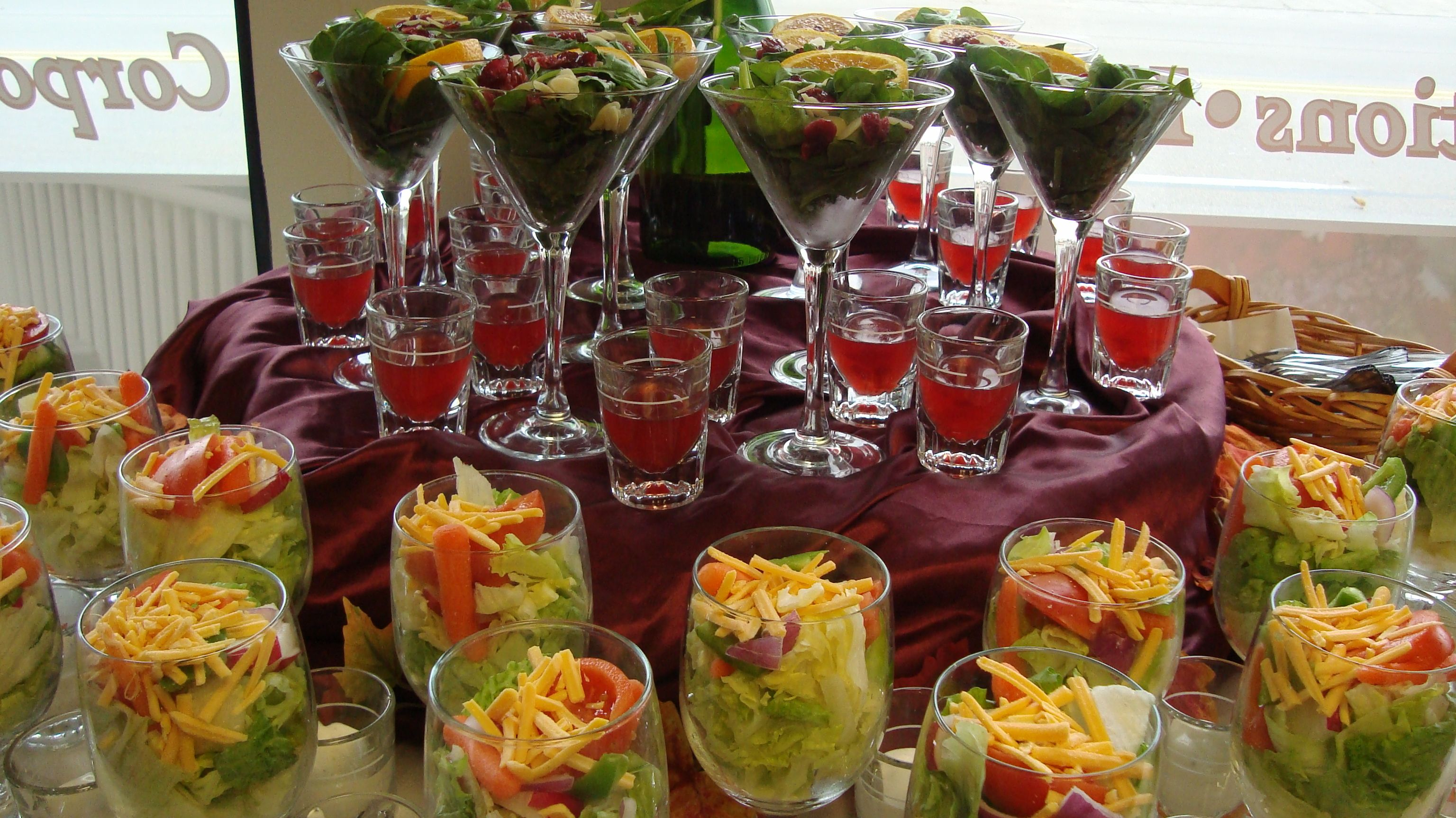 Adeline leigh catering wedding hot buffets individual for Best food for wedding reception