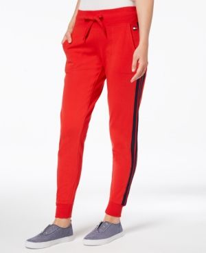 reputable site 6c241 e317d Tommy Hilfiger Sport Striped Jogger Pants, Created for Macy s - Red XXL