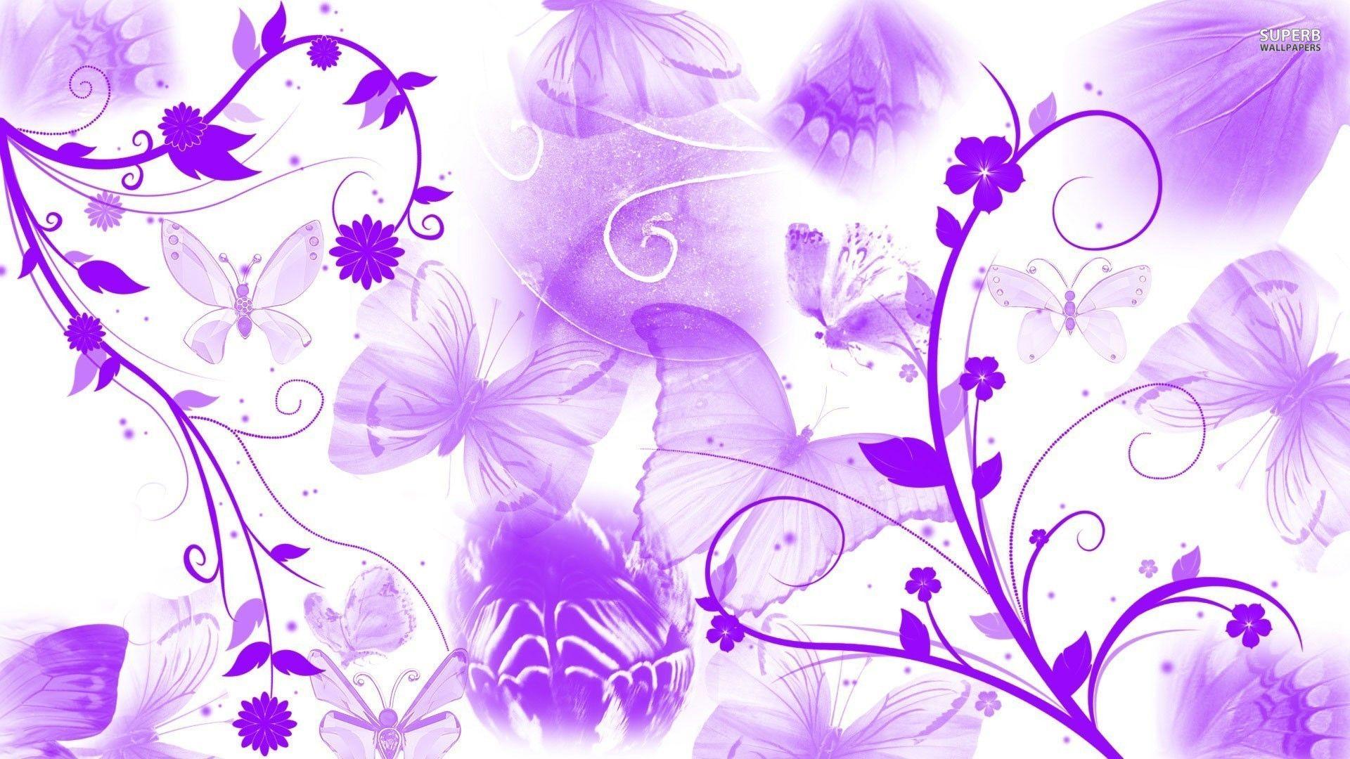 Purple Flower Wallpaper For Bedroom Butterfly Purple Wallpaper Wallpaper Green Hd Wallpaper