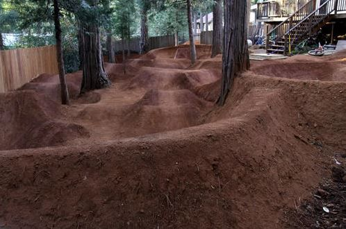 Back Yard Pump Track Grass Is So Over Rated Dirt Bike Track