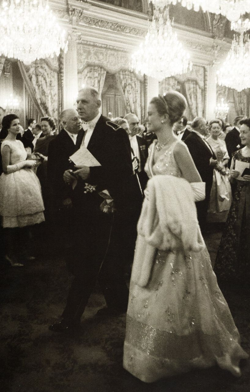 Princess Grace of Monaco with French President Charles De Gaulle - Paris 13 October 1959