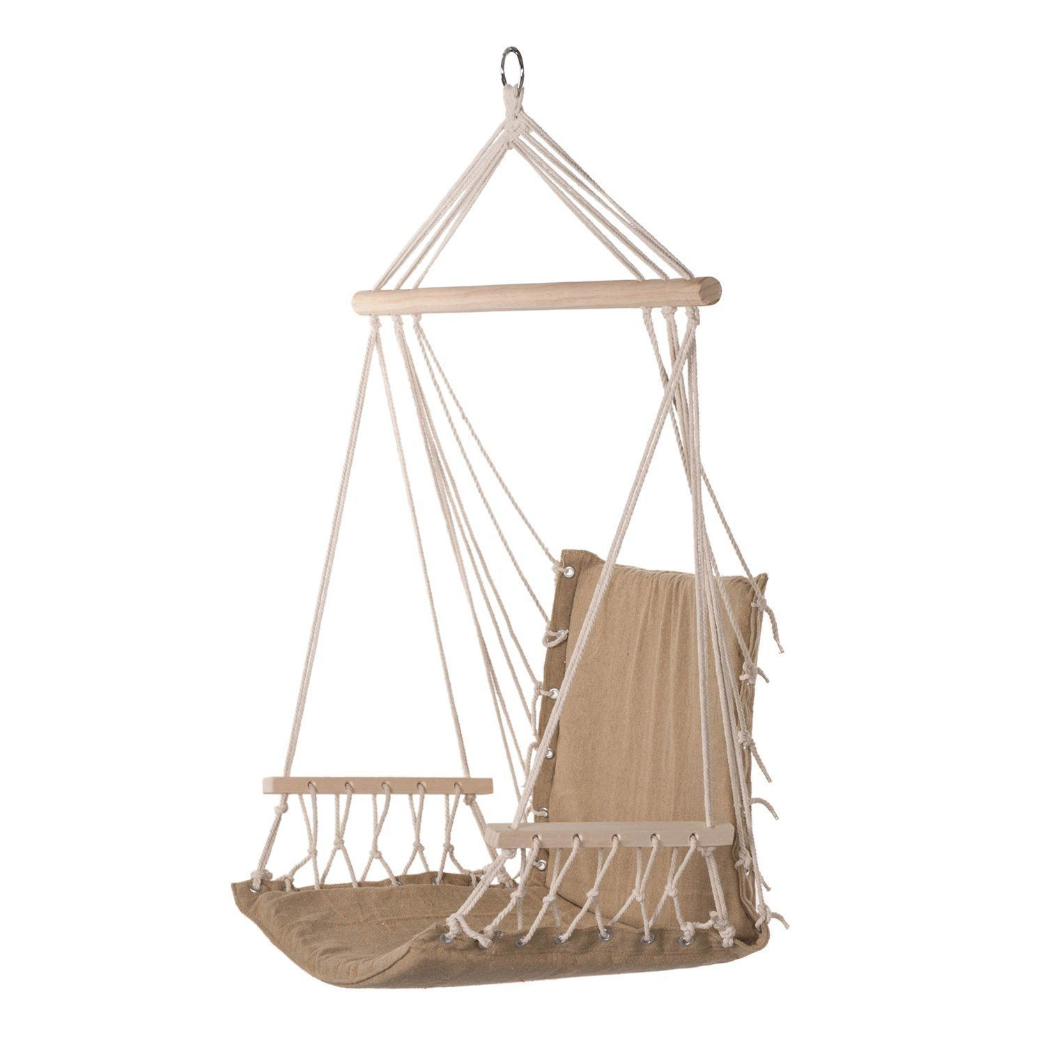 Amazon prime garden hanging rope chair cotton padded swing