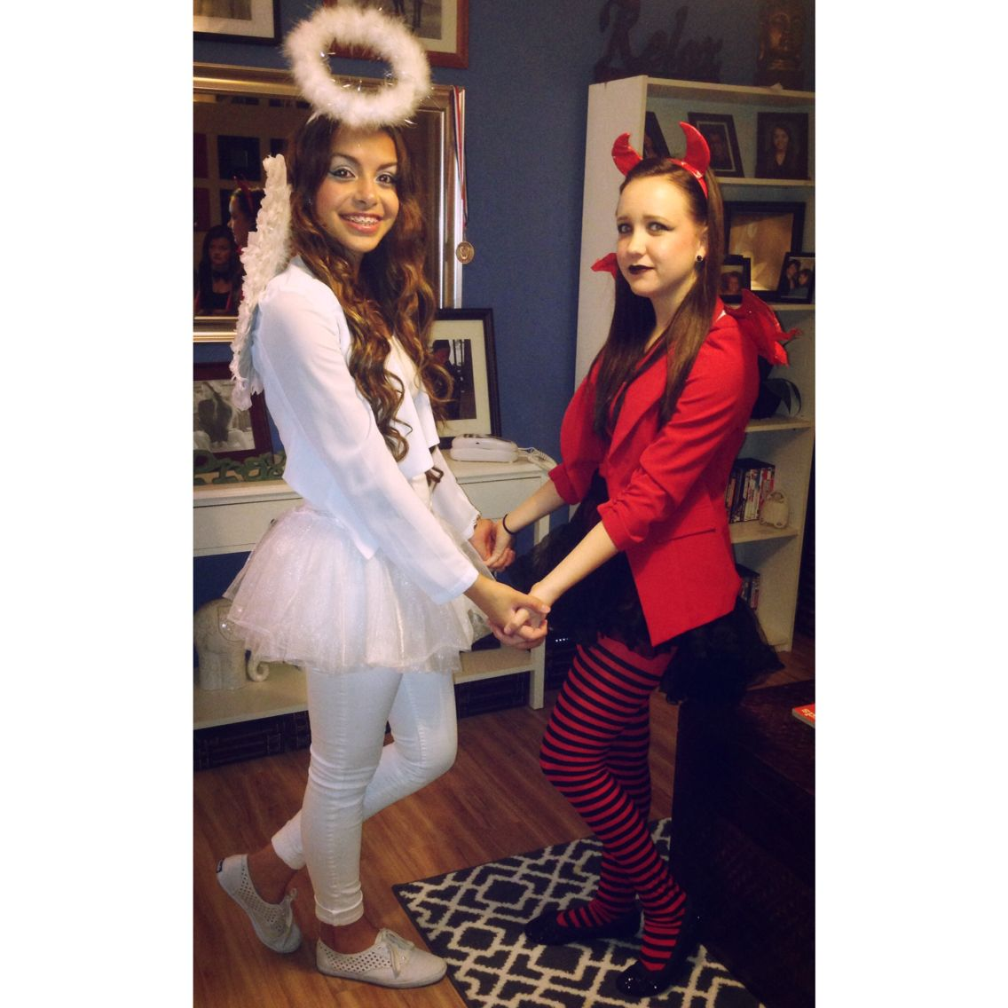Angel an devil best friends costumes More  sc 1 st  Pinterest & Angel an devil best friends costumes u2026 | Pinterest