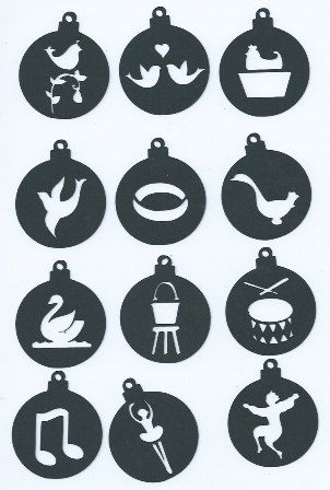 12 Days Of Christmas Hawaiian Style.12 Days Of Christmas Ornament Set 2 Set Of Twelve By