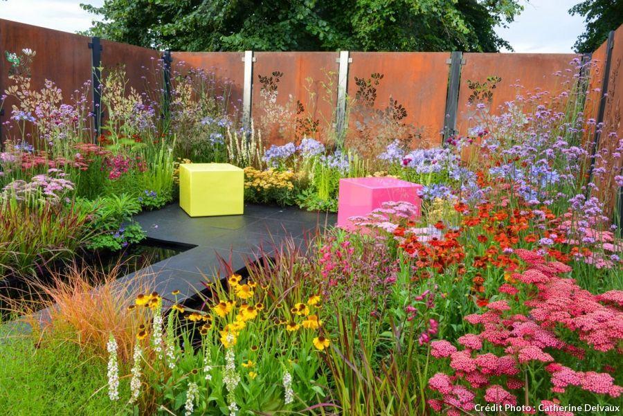 Des panneaux en acier corten pour la clôture du jardin ! Le charme ...