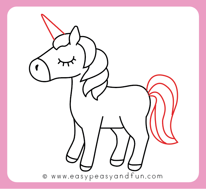 How To Draw An Unicorn Easy And Cute Step By Step Drawing Tutorial Easy Peasy And Fun Unicorn Drawing Easy Drawings Drawing Tutorial Easy