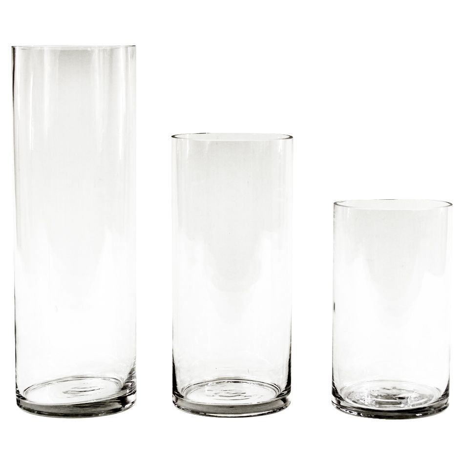 Couture Cylinder Glass Vase, Set of 3 [424664] : Wholesale Wedding ...