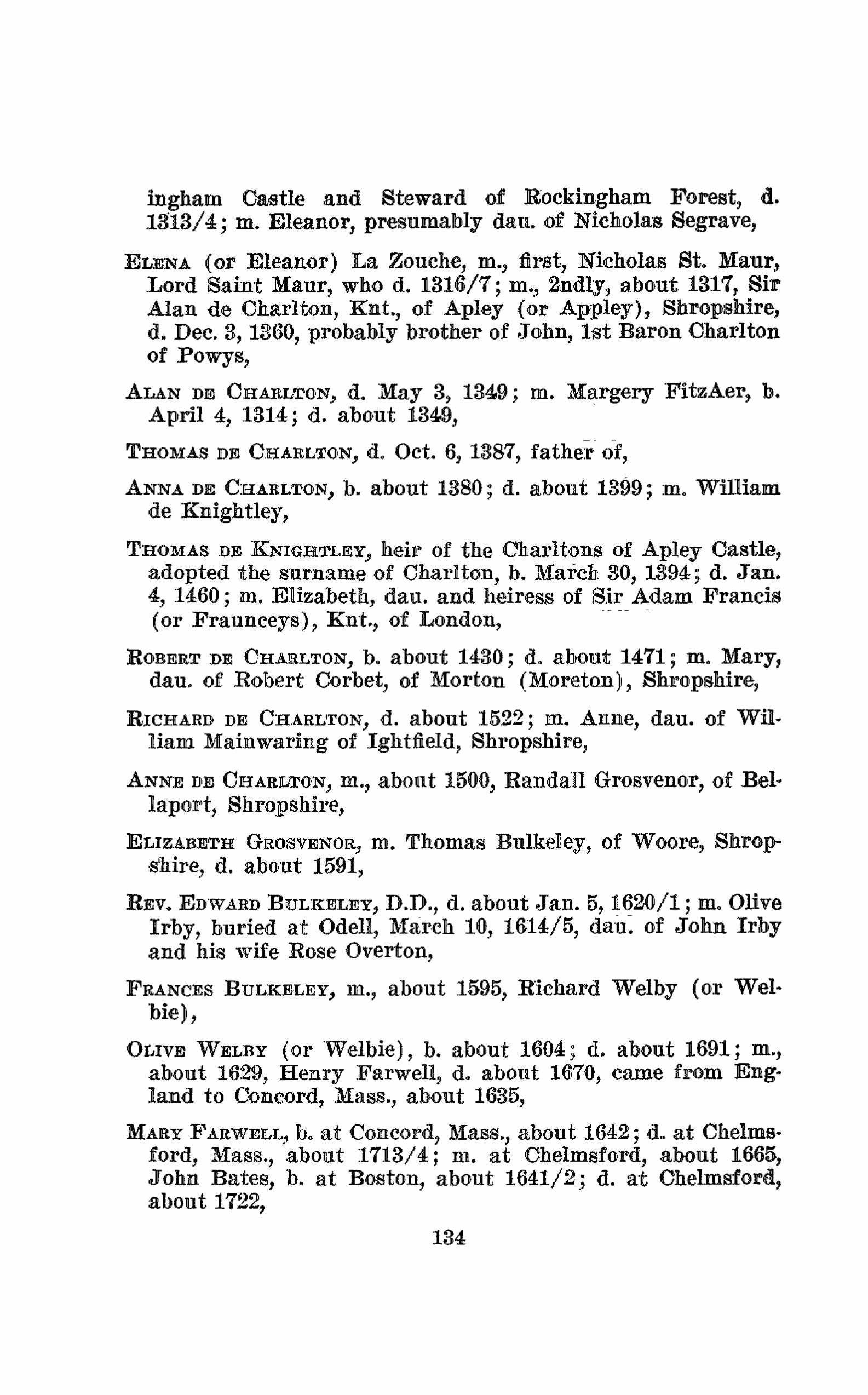 Pedigrees of Some of the Emperor Charlemagne's Descendants. Volume I