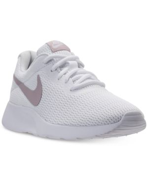 0d21f1556be Nike Women s Tanjun Casual Sneakers from Finish Line - White 9.5 ...