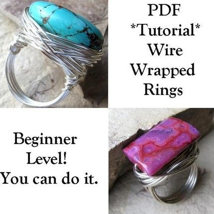 How to make wire rings -- tutorial | Gift Ideas | Pinterest | Wire ...