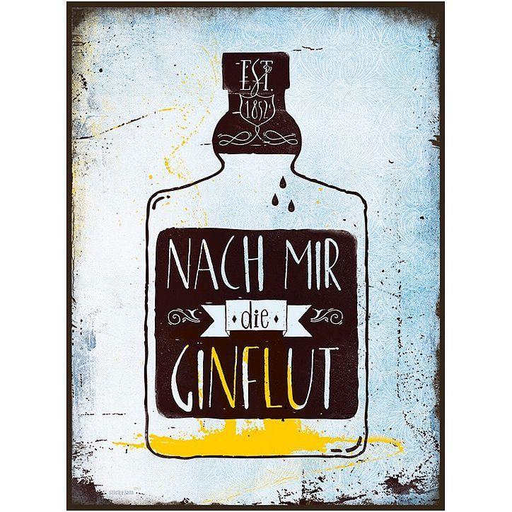 METALLSCHILD Türschild GIN /& TONIC Bar Dekoschild Shabby Spruch Vintage Geschenk