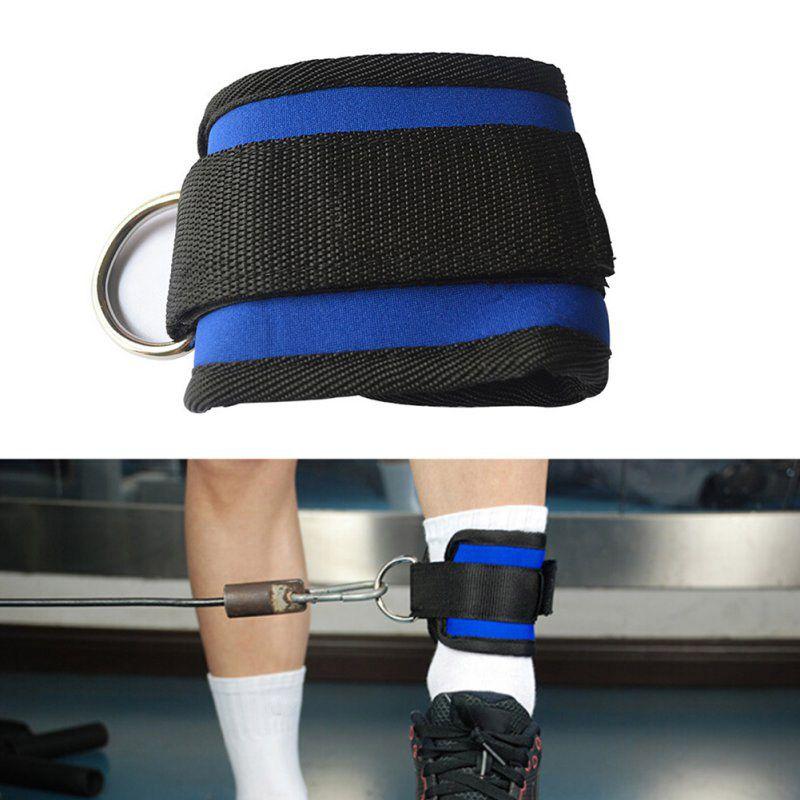 D-ring Caviglia Anchor Strap Belt Multi Gym Cavo di Fissaggio Della Coscia Della Gamba Puleggia Cinghia di Sollevamento Esercizio di Fitness Attrezzature Per L'allenamento