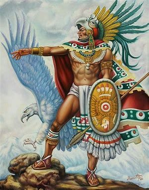 Image result for paintings of warriors #aztec