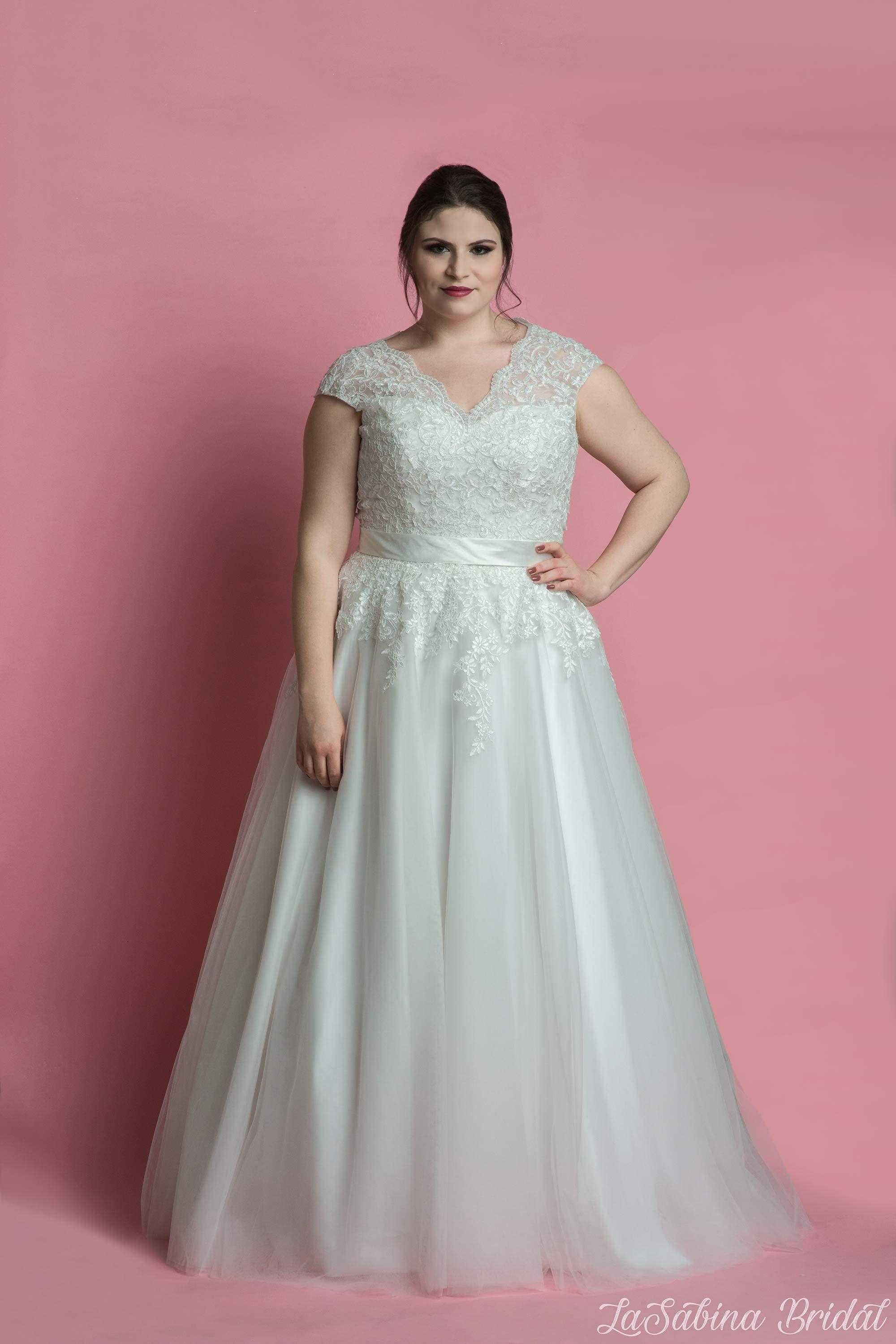 Red Tea Length Lace Wedding Dresses