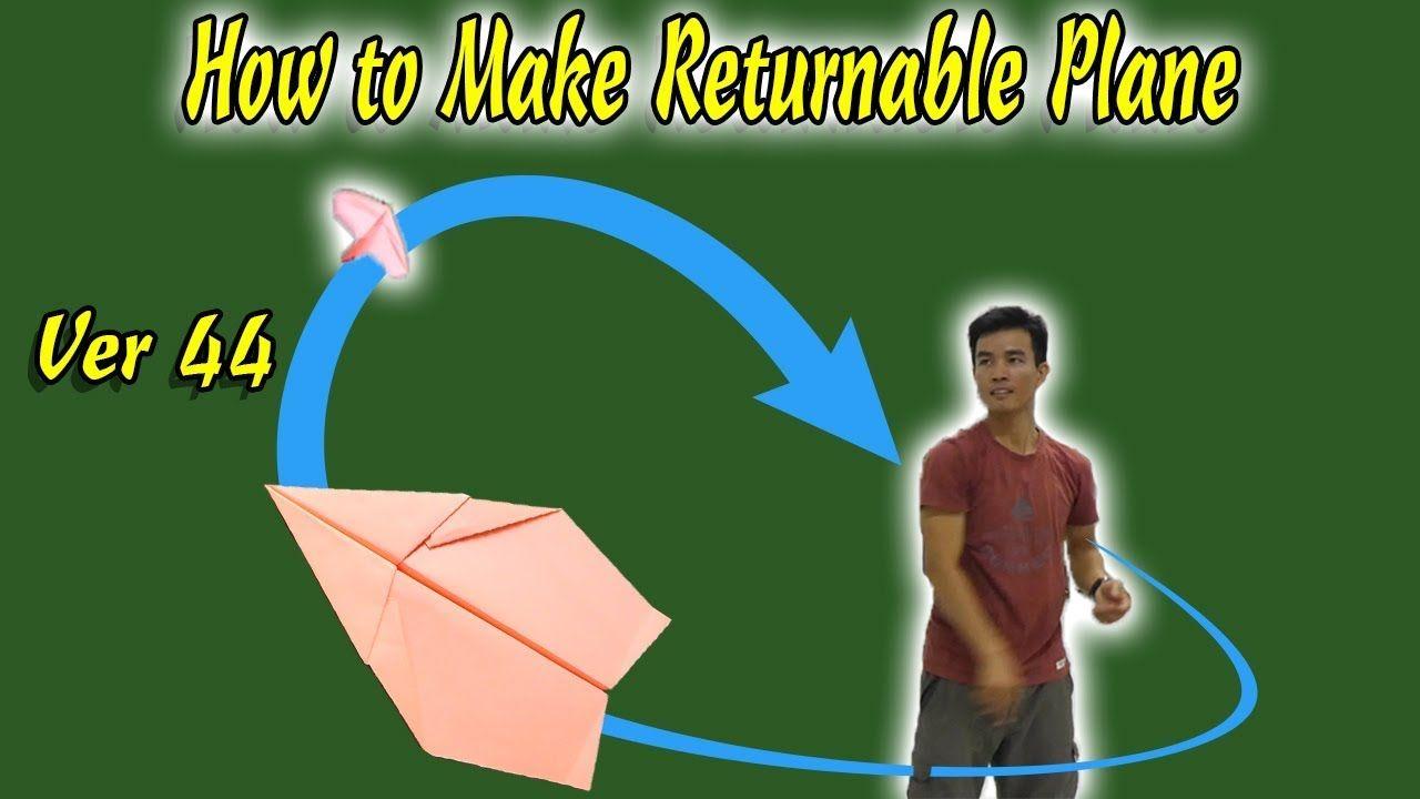 Cách Gấp Máy Bay Boomerang Ver 44, Boomerang Paper