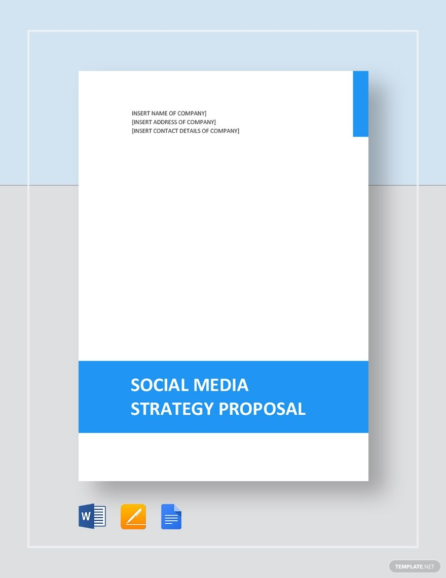 Social Media Strategy Proposal Business Proposal Template