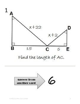Similar Triangles~Proportions~Using Algebra in Geometry