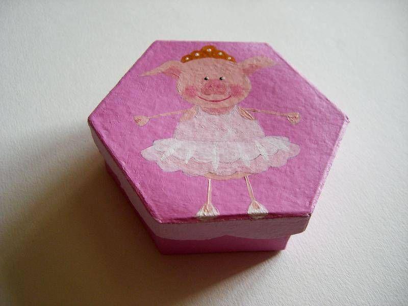 Boîte cochon danseuse - miniatures et petits objets - La boutique de Sophie - Fait Maison