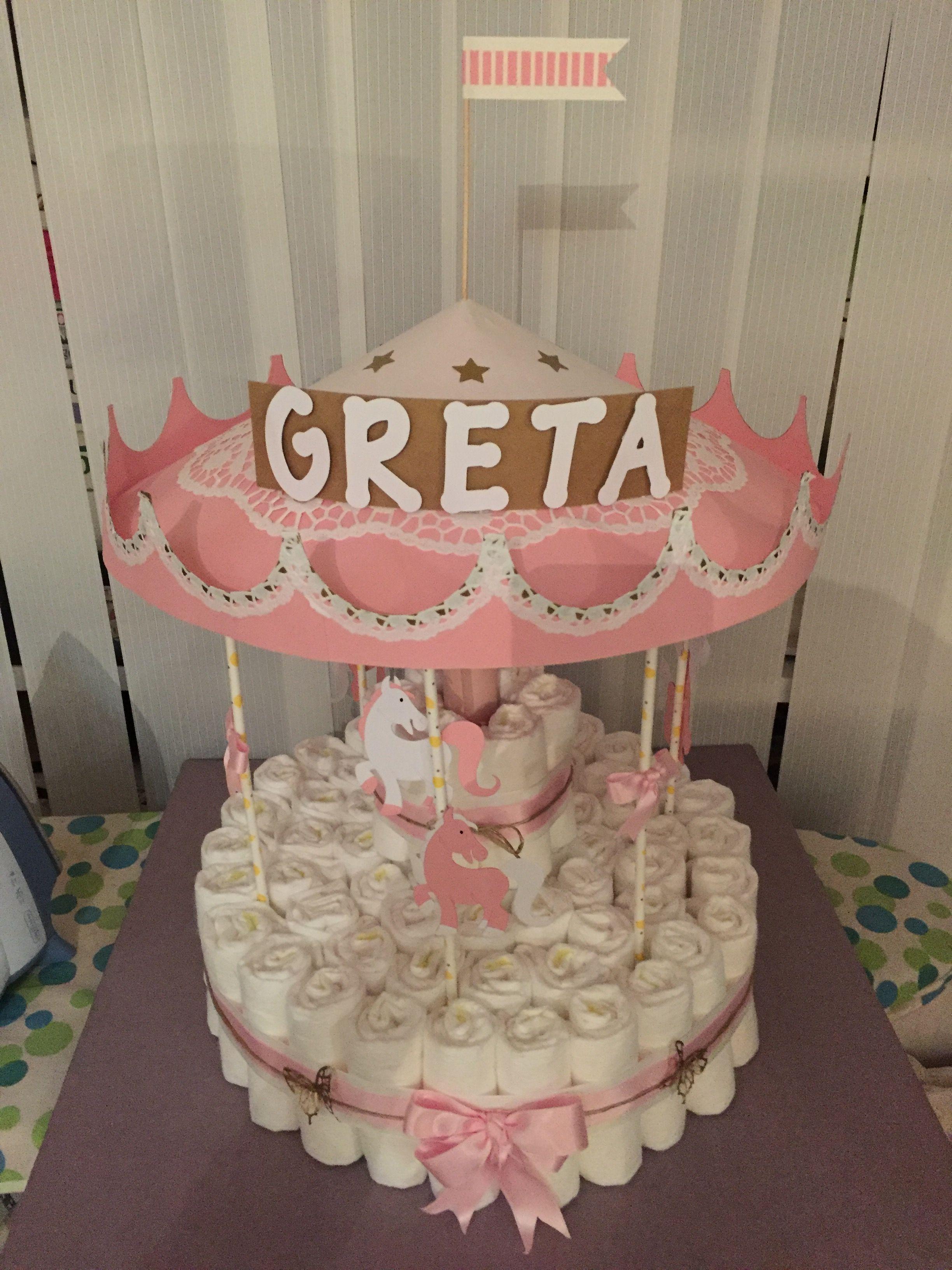 Windeltorte Karussell Hochzeitstorte Rosa Hochzeitstag Kuchen Hochzeitstorte Schmetterling