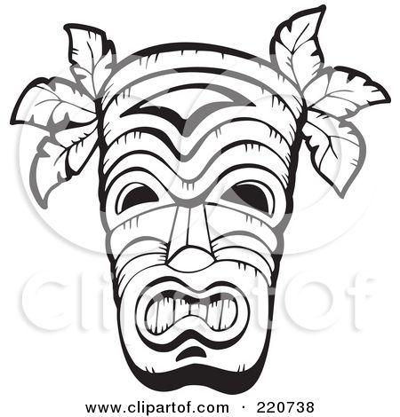 Tiki Mask Template Tiki Mask Tiki Faces Tiki Tattoo