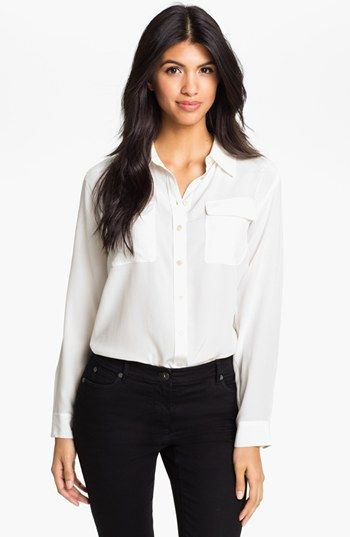 56949f7a44343e Two by Vince Camuto Silk Utility Shirt available at  Nordstrom