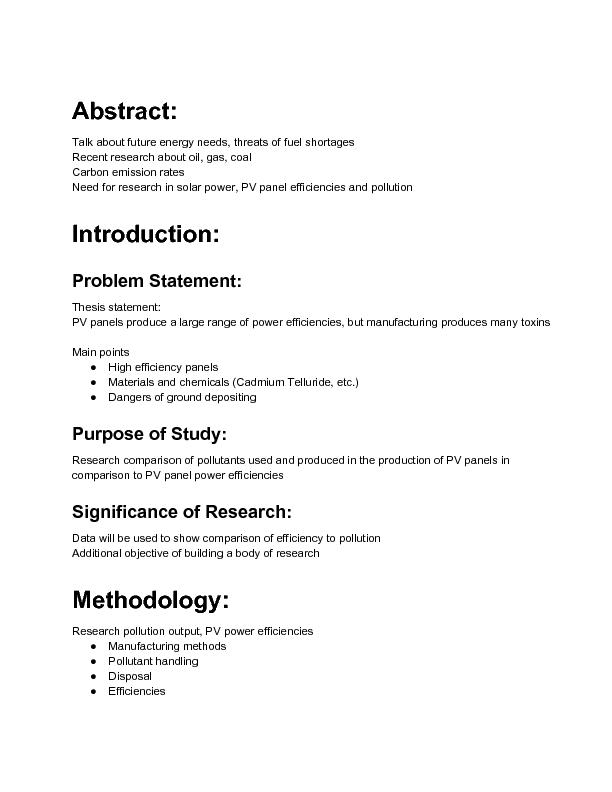 Apa research paper proposal