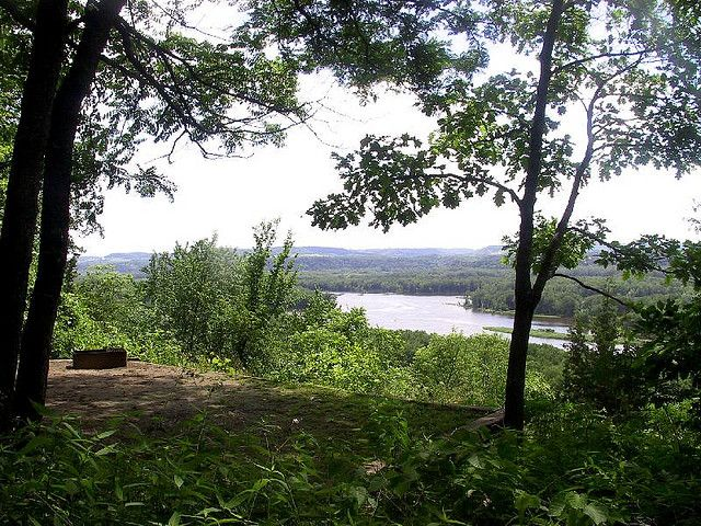 Nelson Dewey State Park- Cassville, WI.  Fantastic hike-in campsites overlooking the Mississippi river